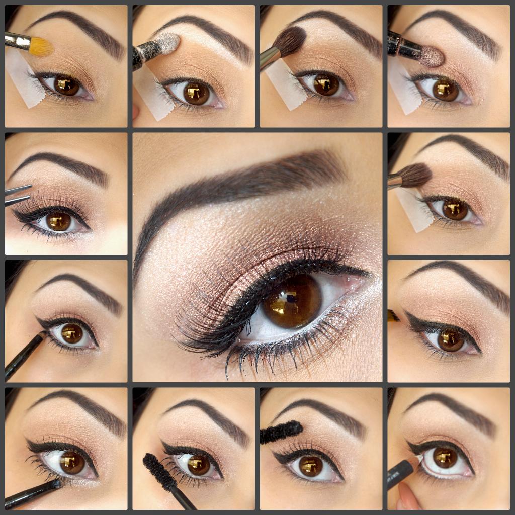 Картинки как сделать макияж для карих глаз